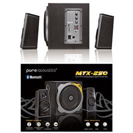 רמקולים למחשב ולסמארטפון 2.1 כוללים סאב בהספק כולל של 45W תוצרת Pureacoustics דגם MTX-250