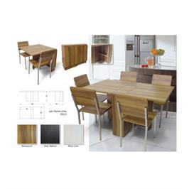שולחן אוכל מתקפל ללא כסאות מבית BRADEX דגם OSLO