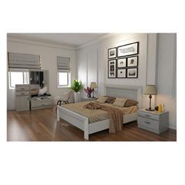 חדר שינה זוגי מלא הכולל מיטה זוגית 140X190, שתי שידות ,קומודה ומראה מבית INSTYLE דגם קורל