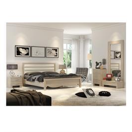 חדר שינה זוגי מלא כולל מיטה זוגית 140X190,שתי שידות ,קומודה יפנית ומראה מבית INSTYLE דגם וינה