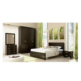 חדר שינה זוגי הכולל מיטה זוגית 140X190,שתי שידות  ,קומודה ,מראה וארון מבית INSTYLE דגם ספרינג