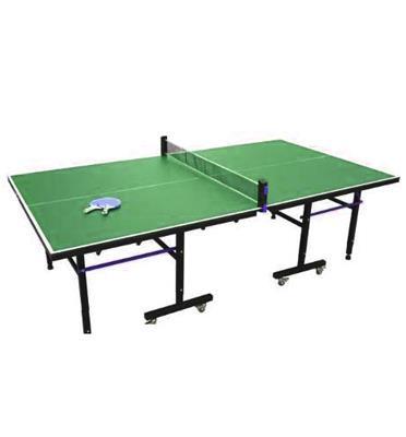 שולחן. טניס פנים דגם T5100 עם קיפול צמוד וחסכוני+סט מחבטים ו3 כדורים מתנה