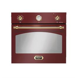 תנור אפיה בנוי בנפח 66 ליטר בעיצוב כפרי בצבע אדום תוצרת LOFRA דגם FRR69EE