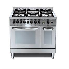 """תנור משולב כיריים דו תאי ברוחב 90 ס""""מ בעיצוב תעשייתי נירוסטה תוצרת LOFRA דגם PD96MFT/COOL"""