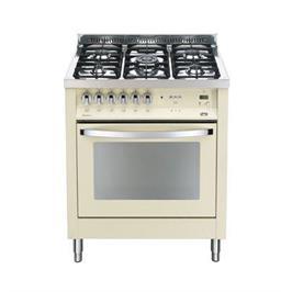 """תנור משולב כיריים 5 להבות כולל להבת טורבו ברוחב 70 ס""""מ צבע קרם תוצרת LOFRA דגם PBI76MF/CI"""