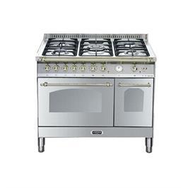 """תנור משולב כיריים דו תאי בעיצוב כפרי ברוחב 90 ס""""מ נירוסטה תוצרת LOFRA. דגם RSD96MFTE/CI"""