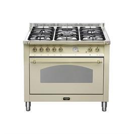 """תנור משולב כיריים בעיצוב כפרי ברוחב 90 ס""""מ בצבע קרם תוצרת LOFRA דגם RBIG96MFT/CI"""