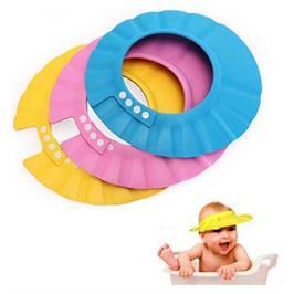 כובע למקלחת לקטנטנים המונע חדירת מים, שמפו או סבון לעיניי התינוק בזמן המקלחת מבית BUY THE WAY