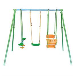 נדנדת חצר הכוללת מושב יחיד+מושב זוגי ומושב זוגי גונדולה SWING & ROCK מבית CAMPTOWN דגם 14509