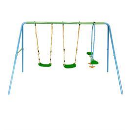 נדנדת חצר שני מושבים ונדנדה דו מושבית SWING & ROCK ממתכת צבעונית מבית CAMPTOWN דגם 14508