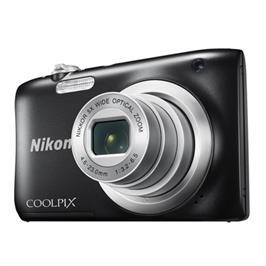 מצלמה קומפקטית 20MP חיישן CCD תוצרת NIKON דגם Coolpix A100 - אחריות יבואן רשמי! צבע שחור