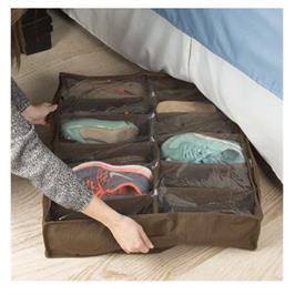 ארגונית נעליים עם מחיצות קשיחות לאחסון של עד 12 זוגות נעליים דגם 1007293-1