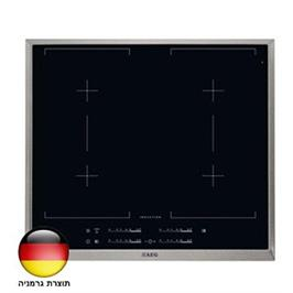 """כיריים אינדוקציה ברוחב 60 ס""""מ MaxiSense עם 4 איזורי בישול גמישים תוצרת AEG דגם HK654400XB"""