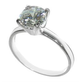 טבעת כסף סטרלינג בשיבוץ אבן דמוית יהלום 3 קראט דגם 1007174