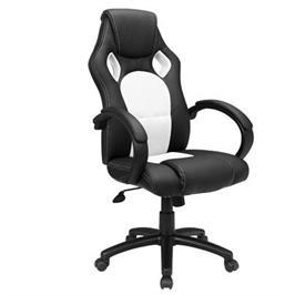 כסא גיימרים עשוי מ PU מובחר עם רשת באמצע למניעת הזעה מבית MUZAR2000 דגם D001