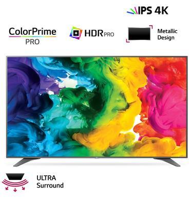 """טלוויזיה 60"""" Smart TV 4K Ultra HD, פנל IPS אינדקס עיבוד תמונה 1700PMI תוצרת LG דגם 60UH651Y"""
