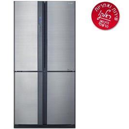 מקרר 4 דלתות בנפח 565 ליטר תוצרת SHARP דגם SJ-8595