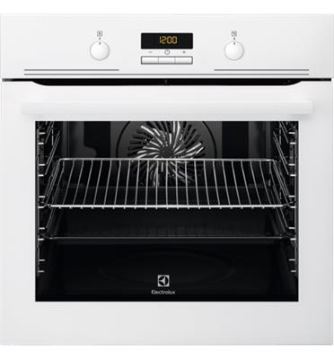 תנור אפיה בנוי 3D תא בנפח 74 ליטר סגירת דלת רכה בגימור לבן תוצרת Electrolux דגם EOB5440AOV