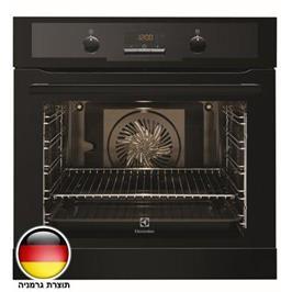 תנור אפיה בנוי 3D תא בנפח 74 ליטר סגירת דלת רכה בגימור שחור תוצרת Electrolux דגם EOB5440AOK