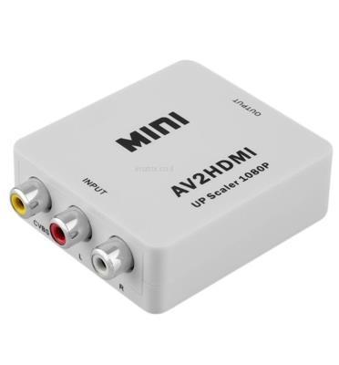 מתאם ממיר מ- AV / RCA ל- HDMI איכותי וקומפקטי דגם AV2HDMI