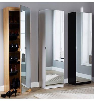 ארון נעליים בעל נפח אחסון ענק ודלת ראי עצומה מבית HOMAX דגם יעל