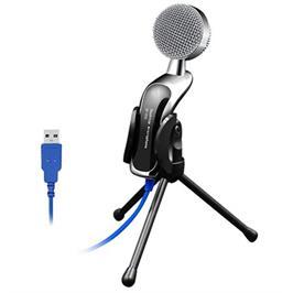 מיקרופון שדרים איכותי בחיבור USB - כולל מעמד - OMNI DIRECTIONAL דגם MAT922B