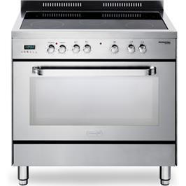 """תנור משולב כיריים מפואר 90 ס""""מ קרמיות תוצרת Delonghi דגם NDS989X"""