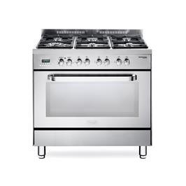 """תנור משולב כיריים מפואר 90 ס""""מ בצבע נירוסטה NDS_979_X"""