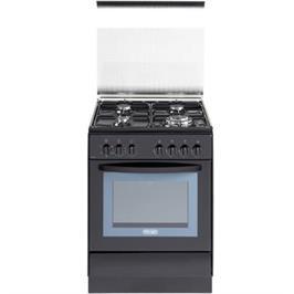 """תנור אפייה משולב כיריים רב תכליתי ברוחב 60 ס""""מ 4 להבות צבע שחור תוצרת Delonghi דגם NDS378N"""