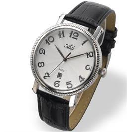 שעון יד קלסי QUARTZ UNISEX עשוי פלדת אל חלד ועמיד במים מבית ADI דגם 21-0265-181