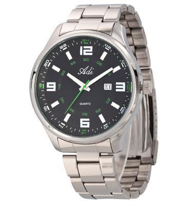 שעון לגבר עשוי פלדת אל חלד ועמיד במים עד 100M בצבע ירוק מבית ADI דגם 14-1556-193