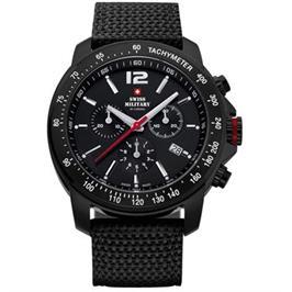 שעון יד כרונוגרף לגבר עשוי פלדת אל חלד תוצרת SWISS MILITARY שוויץ דגם SM3403306