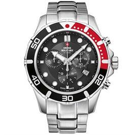 שעון יד כרונוגרף לגבר עשוי פלדת אל חלד תוצרת SWISS MILITARY שוויץ דגם SM3404401