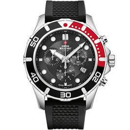 שעון יד כרונוגרף לגבר עשוי פלדת אל חלד תוצרת SWISS MILITARY שוויץ דגם SM3404404