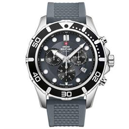 שעון יד כרונוגרף לגבר   עשוי פלדת אל חלד תוצרת SWISS MILITARY שוויץ דגם SM3404406