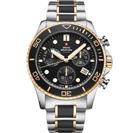 שעון יד כרונוגרף לגבר עשוי פלדת אל חלד תוצרת SWISS MILITARY שוויץ דגם SM3405102