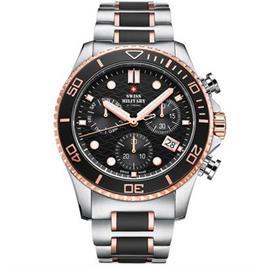 שעון יד כרונוגרף לגבר עשוי פלדת אל חלד תוצרת SWISS MILITARY שוויץ דגם SM3405103
