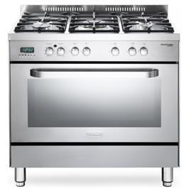 """תנור משולב מפואר 90 ס""""מ 8 תוכניות 5 להבות גז תוצרת DELONGHI דגם NDS939"""