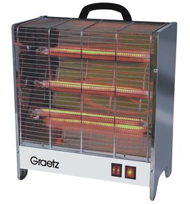 תנור חימום ספיראלות 1800W כולל מפסק בטיחותי תוצרת GRAETZ דגם GR-1003
