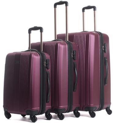 סט שלוש מזוודות קשיחות גדולה בינונית וקטנה 20 24 28 אינטש מבית Calpaks דגם TORRINO