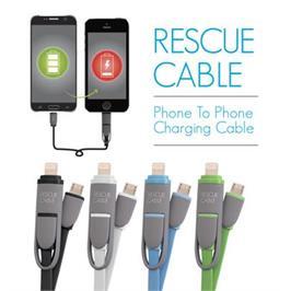 בלעדי! כבל טעינת סוללה ישירות מסמארטפון לסמארטפון משלוח חינם מבית LEXUS דגם RESCUE CABLE