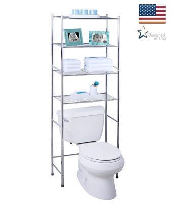 מעמד 4 קומות לאחסון מעל אסלת שירותים,מכונת כביסה סל כביסה ועוד מבית honey can do דגם BTH-05281