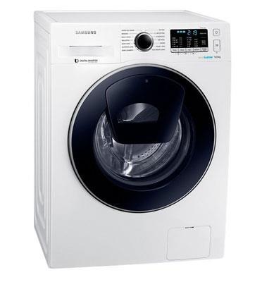 """מכונת כביסה פתח חזית 9 ק""""ג 1,400 סל""""ד AddWash+Eco Bubble תוצרת Samsung דגם WW90K5410UW"""