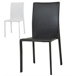 כסא לפינת אוכל מרופד דמוי עור קשיח לישיבה נוחה מאוד מבית BRADEX דגם CITY