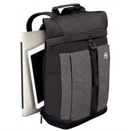 תיק גב חזק ונוח מתאים ללפטופ ומכשירים דיגטלים 3 שנות אחריות מבית WENGER דגם  601058 Metro Black