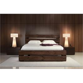מיטה זוגית כפרית מעץ אורן מלא מבית אולימפיה+ מזרן קפיצים אורתופדי