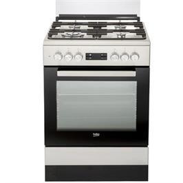 """תנור אפייה משולב כיריים ברוחב 60 ס""""מ כולל טורבו אקטיבי תוצרת BEKO דגם FSM61330DXDSL"""