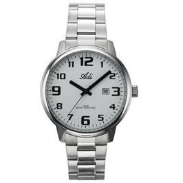 שעון יד לגבר עם תאריכון עשוי פלדת אל חלד ועמיד במים- אחריות לשנה מבית ADI דגם 21-6889-183