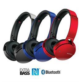 אוזניות דינמיות BT, NFC מיקרופון מובנה ושליטה מלאה בטלפון מבית SONY דגם MDR-XB650BT