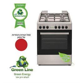 תנור בישול משולב כיריים גז צבע לבן תוצרת Green-Line דגם GR618 SM